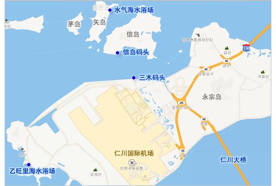 韩国飞机场地图