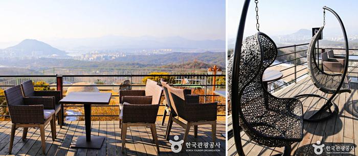 cupola咖啡厅户外露台的风景