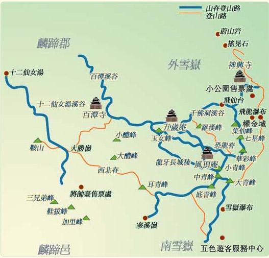 千佛山风景区线路图