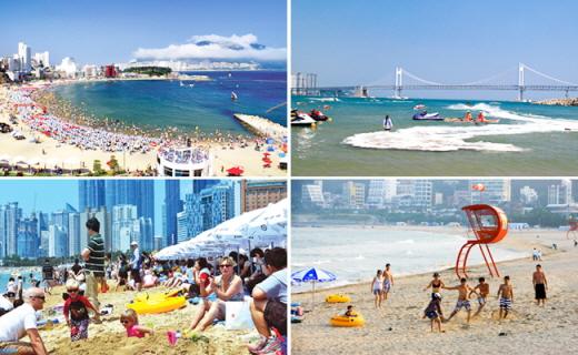 (左起)松岛海水浴场,广安里海水浴场