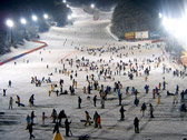 滑雪場夜景