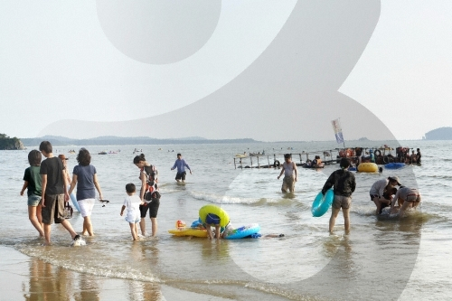 青浦台海水浴場(청포대해수욕장)