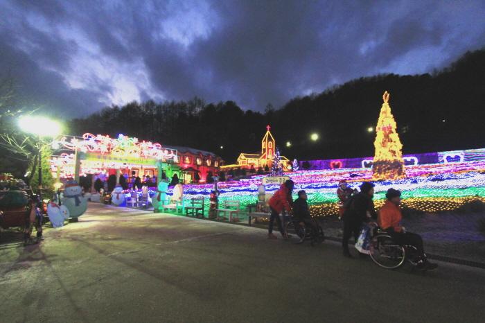 불빛의 동화, 허브 크리스마스 사진