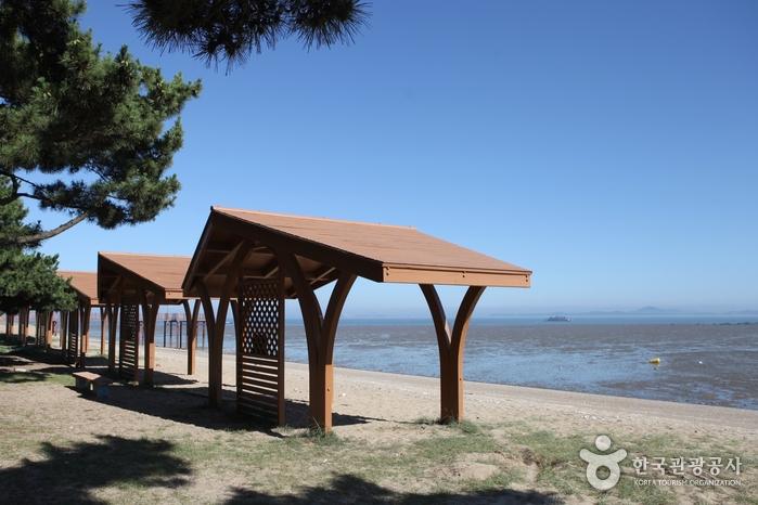 한적하고 조용한 평일 오후 옹암해변