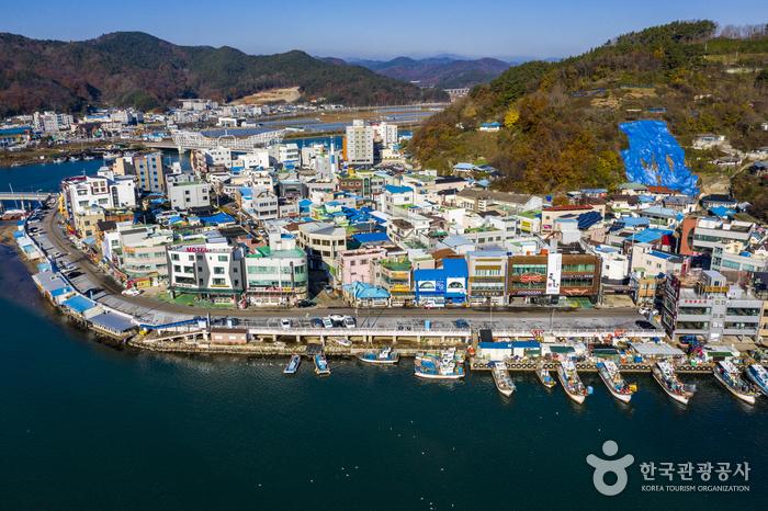 Морской порт Кангу (강구항)