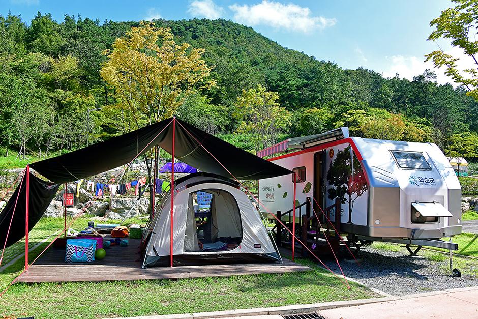 한천자연휴양림캠핑장