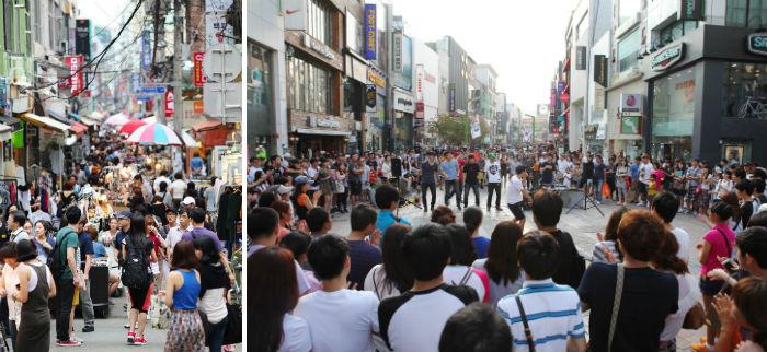 국제시장 젊음의 거리와 광복로 공연