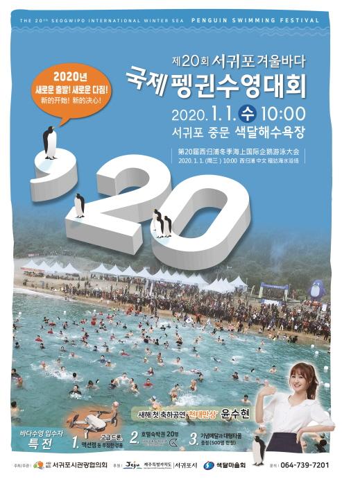 서귀포 겨울바다 국제펭귄수영대회 2020