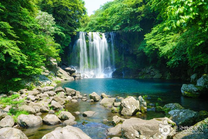 Cheonjeyeon-Wasserfall (천제연폭포)