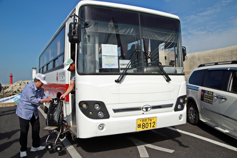 대연평도에서 하루 6회 운행하는 공영버스