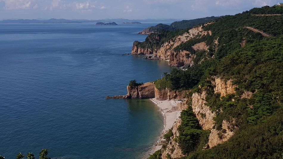 가래칠기해변과 해안 풍경