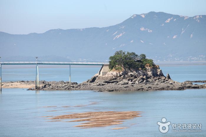 옹암마을 앞에 있는 작은 바위섬