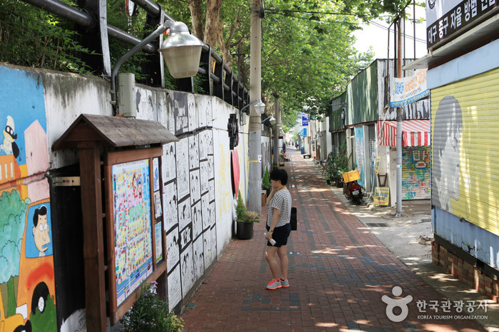 Улица имени музыканта Ким Кван Сока (김광석 길)3