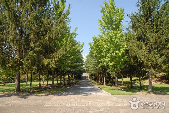Могила 700 солдат и молельня в горах Кымсан (금산 칠백의총)16