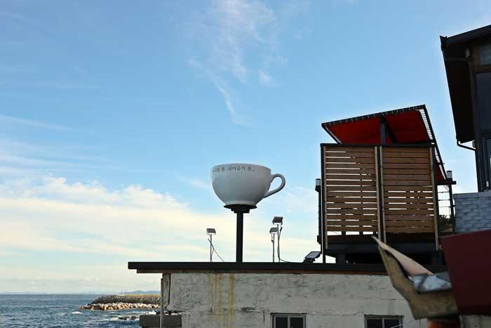 바다를 향해 활짝 열린, 카페 봄  3