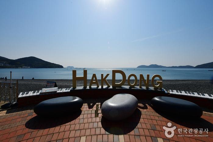 Hakdong Mongdol Beach (학동흑진주몽돌해변)