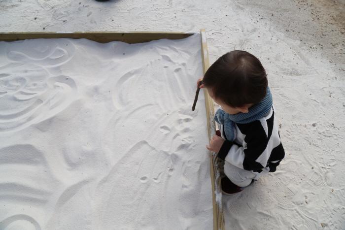 주작문 앞 모래체험장