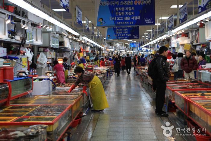 Marché de Jagalchi à Busan (부산 자갈치시장)