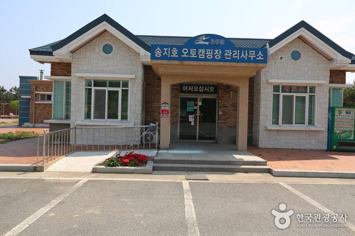 강원도 고성의 송지호 캠핑장