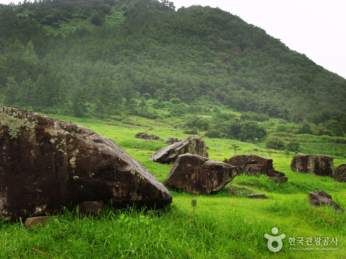 photo about Gochang, Hwasun, and Ganghwa Dolmen Sites