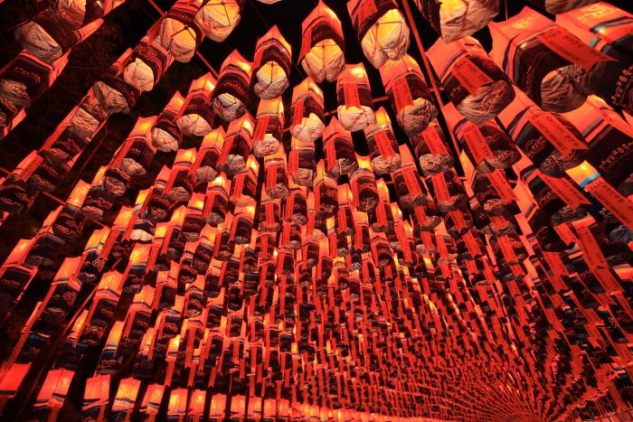 Фестиваль фонарей на реке Намган в Чинчжу (남강유등축제)8