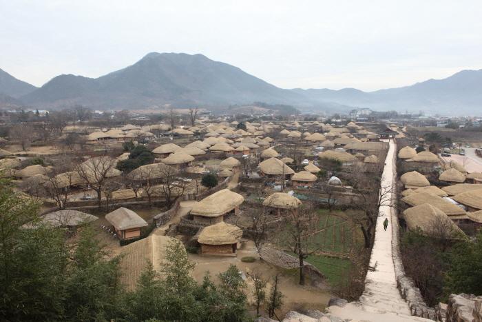 읍성 전망대에서 본 낙안읍성민속마을 전경
