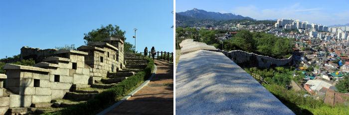 서울성곽과 낙산에서 바라본 전망