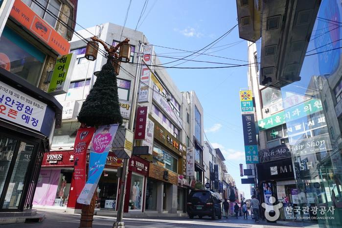 Calles de Myeong-dong de Chuncheon (춘천명동거리)