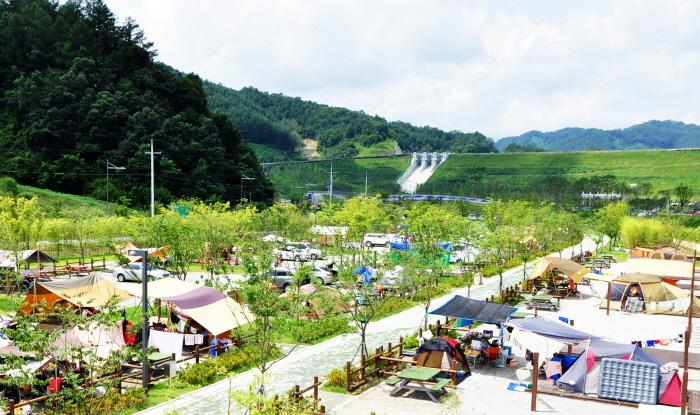 김천부항댐 산내들오토캠핑장