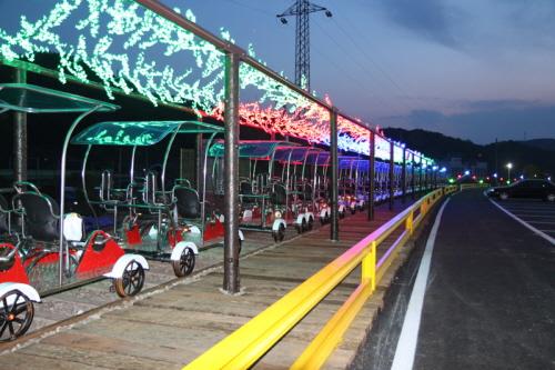 Железнодорожный велосипед в Янпхёне 4