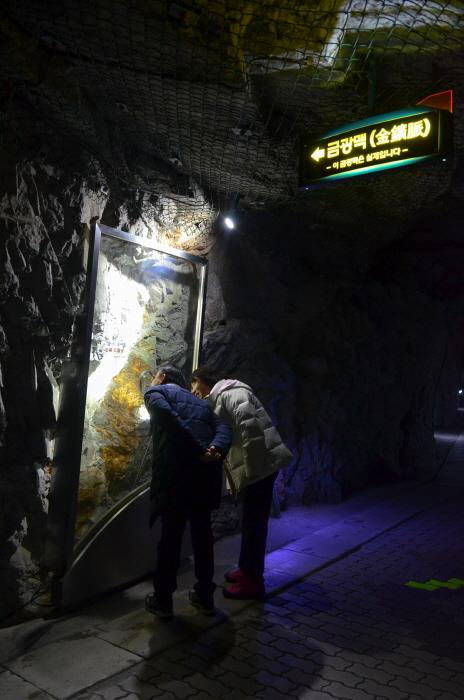 화암동굴의 금광맥