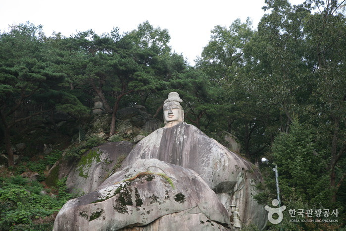 Rock-carved Standing Buddha in Icheon-dong, Andong (안동 이천동 마애여래입상)