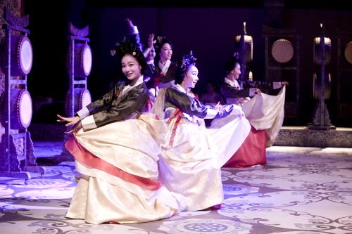 Traditionelle Bühnenshow Miso - Lächeln (전통공연 미소)