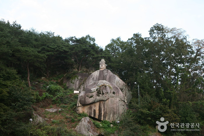 Rock-carved Standing Buddha in Icheon-dong, Andong (안동 이천동 마애여래입상)