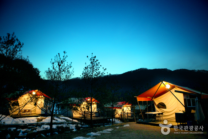 자연 속에 호텔을 디자인하다, 포천 353캠핑