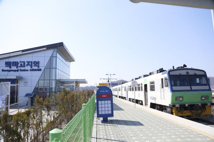 京元線 鉄道中断点(白馬高地駅)(경원선 철도중단점 (백마고지역))