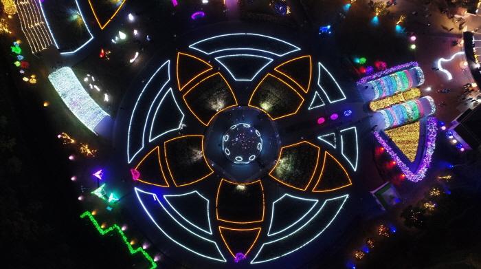 蔚山大公园玫瑰园星光庆典<br>울산대공원 장미원 빛축제