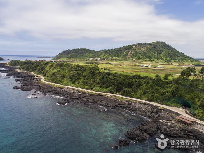 Gipfel Suwolbong und Strand Chagwi (수월봉과 차귀해변)