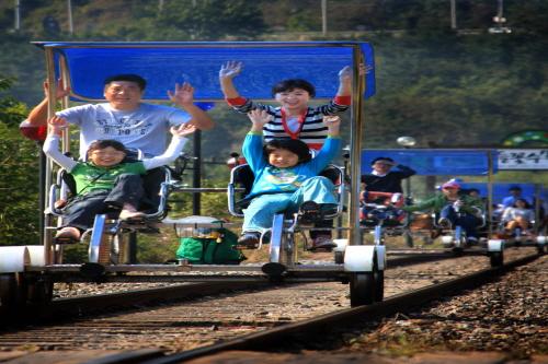 Железнодорожный велосипед в Янпхёне 6