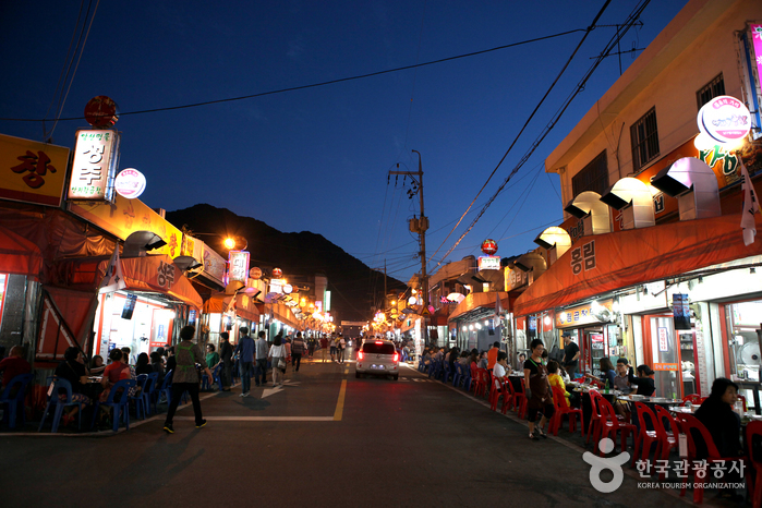 Die Gopchang-Gasse Anjirang (안지랑 곱창골목)