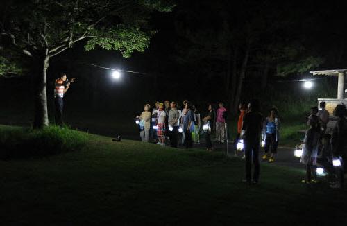 중문골프장 달빛걷기
