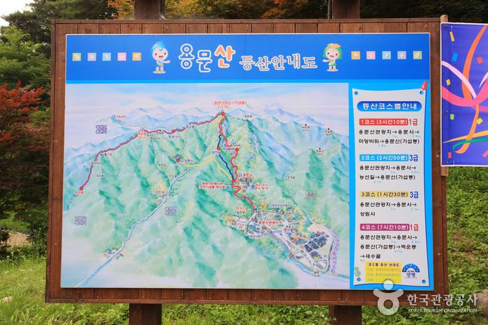 龙门山观光地<br>(용문산 관광지)