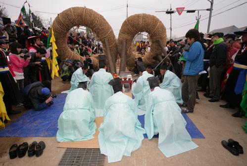 Gijisi Juldarigi (Tauziehen) Volksfestival (기지시 줄다리기 민속축제)