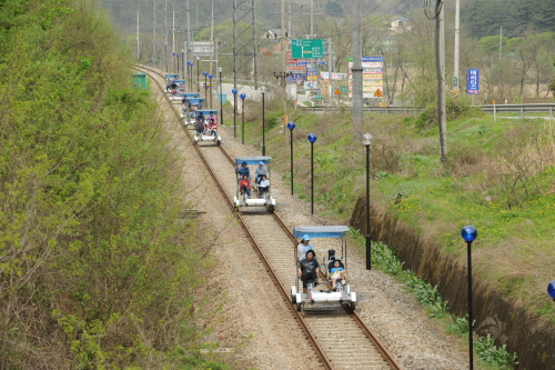 Железнодорожный велосипед в Янпхёне 8