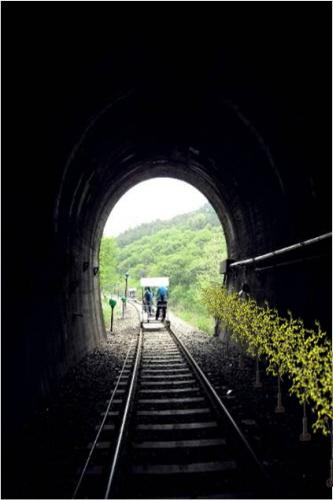Железнодорожный велосипед в Янпхёне 9