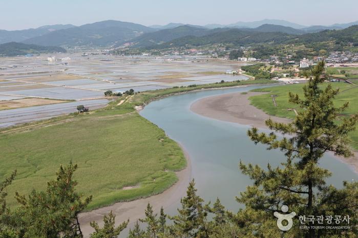Обзорная площадка Ёнсан у залива Сунчхонман (순천만 용산전망대(S자 물길))