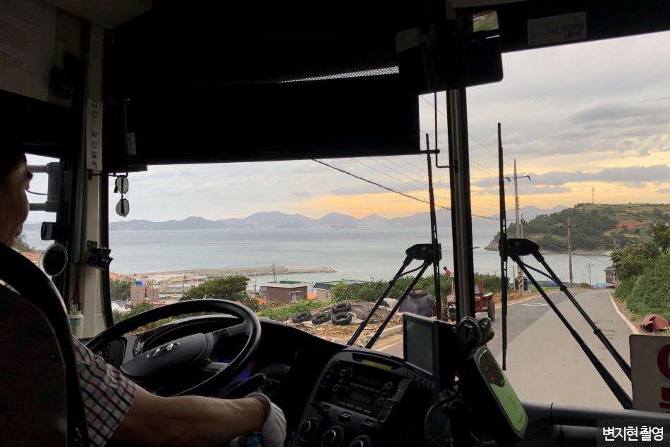 버스 안에서 보는 풍경