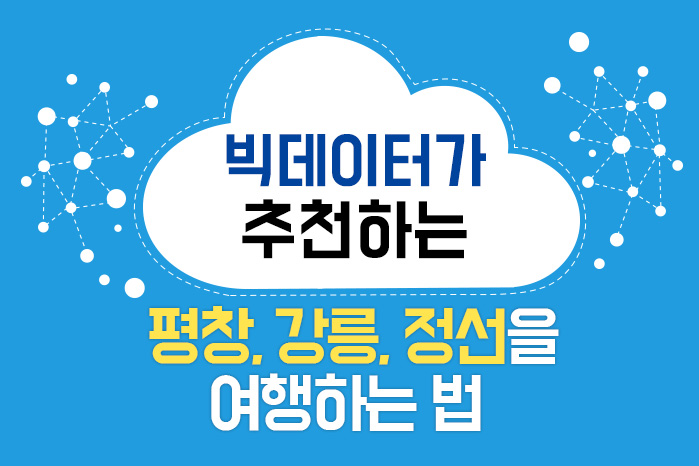 [여행 카드] 빅데이터가 추천하는 평창, 강릉, 정선을 여행하는 법 사진