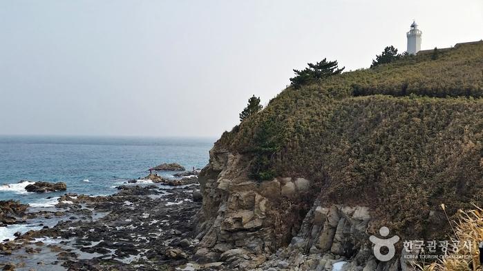 유인등대인 죽변등대가 서 있는 죽변곶