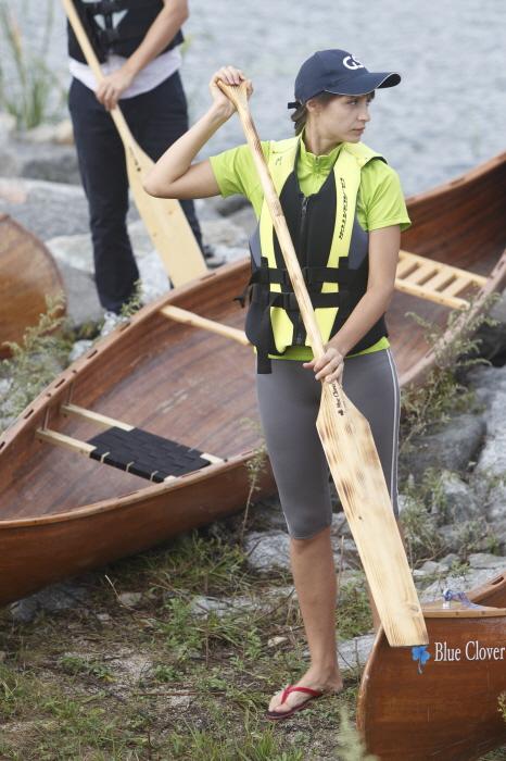 카누 배우는 외국인